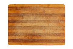 Heavily used empty kitchen cutting board Stock Image