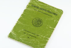 Heavily used Mexican FM3 Immigration Passport stock images