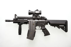 Heavily used military M16 rifle Royalty Free Stock Images