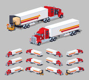 Heavy american truck with the trailer Royalty Free Stock Image