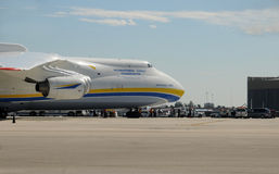 Heavy Antonov jet visits Miami for the first time Royalty Free Stock Photography