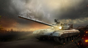 Heavy armor tank Royalty Free Stock Photo