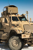 Heavy armored Maxxpro vehicle in Afghanistan royalty free stock photography