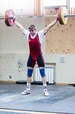 Heavy athletics, weightlifter. Stock Photos