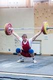 Heavy athletics, weightlifter. Royalty Free Stock Photo