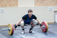 Heavy athletics, weightlifter. Royalty Free Stock Photos
