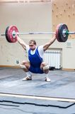 Heavy athletics, weightlifter... Royalty Free Stock Photo
