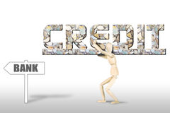 Heavy backbreaking credit Royalty Free Stock Photo
