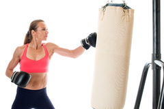 Heavy Bag Exercise Royalty Free Stock Images