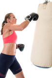 Heavy Bag Exercise Stock Image