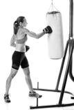 Heavy Bag Exercise stock photo