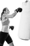 Heavy Bag Exercise Stock Photography