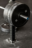 Heavy barbell weight. Close-up of heavy barbell weight at the gym royalty free stock images