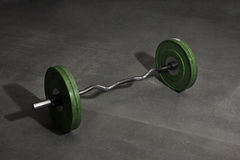 Heavy Barbell weight on the floor Royalty Free Stock Photography