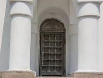 Heavy beautiful Church doors. In Russia Chelyabinsk Stock Images