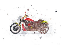 Heavy bike drawing Royalty Free Stock Images