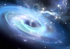 Heavy black hole. Royalty Free Stock Photos