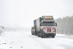 Heavy blizzard Royalty Free Stock Photo