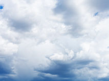 Heavy blue cumulus cloud in sk Stock Image