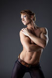 Heavy body builder woman portrait Royalty Free Stock Image