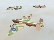 Heavy Bomber Halifax Stock Photography