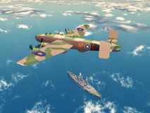 Heavy Bomber Halifax Royalty Free Stock Photo