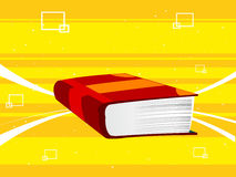 Heavy book. With abstract background stock illustration