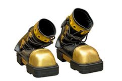 Heavy boots of the diver. Stock Photos