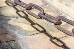 Heavy Brass Chain Royalty Free Stock Images