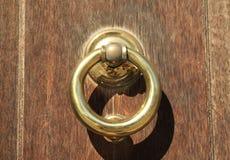 Heavy Brass Door knocker Stock Photos