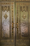 Heavy Brass Door Saint Patrick's Cathedral NYC Stock Photography