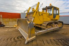 The heavy building bulldozer Royalty Free Stock Photos
