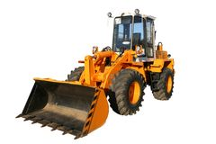 The heavy building bulldozer of yellow color Royalty Free Stock Image
