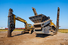 Heavy building machines Royalty Free Stock Photos