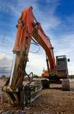 Heavy bulldozer. Closeup picture of a shovel from a bulldozer Royalty Free Stock Image