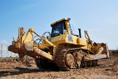 Heavy bulldozer with ripper stock photos
