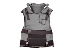 Heavy bulletproof vest isolated. On white Royalty Free Stock Photo