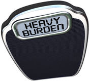 Heavy Burden Scale Words Difficult Task Duty Stock Images