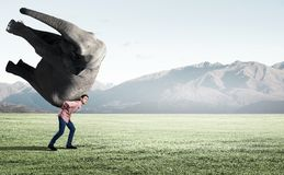 Heavy burden! Royalty Free Stock Images