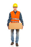 Heavy carton box. Stock Photos