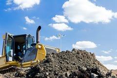 Heavy caterpillar construction machine Stock Images