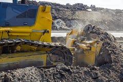 Heavy caterpillar construction machine Stock Photography