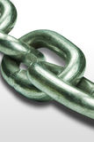 Heavy Chain. Showing strong links and shadows Royalty Free Stock Photos