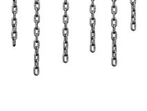 Heavy chain drooping parallel. There is a clipping path Royalty Free Stock Photo