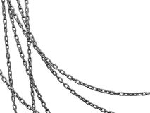 Heavy chains hang curved Royalty Free Stock Photos
