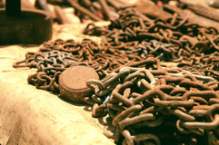 Heavy chains Royalty Free Stock Photos