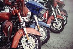 Heavy classic motorcycle Stock Photos