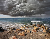 Heavy cloud over the surf Royalty Free Stock Photo