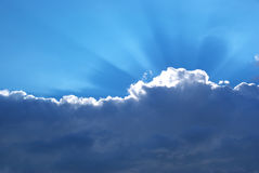 Heavy cloud and sunshine Royalty Free Stock Photo