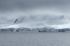 Heavy Cloud System Over The Coastline Of Neko Harbor, Andvord Bay, Antarctic Peninsula.  royalty free stock photos